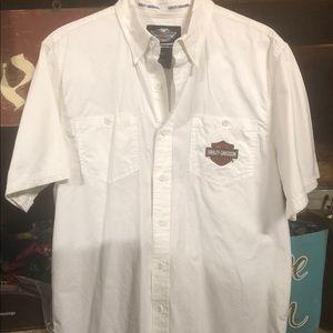 Harley Davidson Short Sleeve Shirt - Men L
